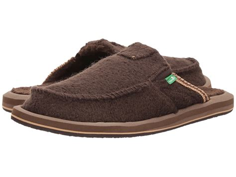 i my slippers sanuk you got my back chill brown what the fuzz s