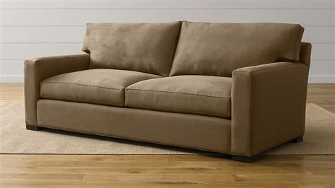 axis ii  seater brown microfiber sofa reviews crate  barrel