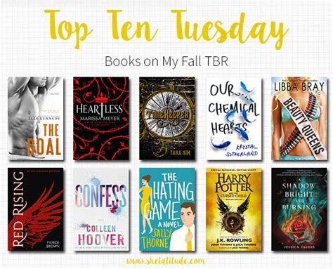 on a tuesday books top ten books on my fall tbr she latitude