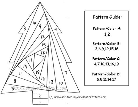 Free Paper Folding Patterns - free printable iris folding patterns