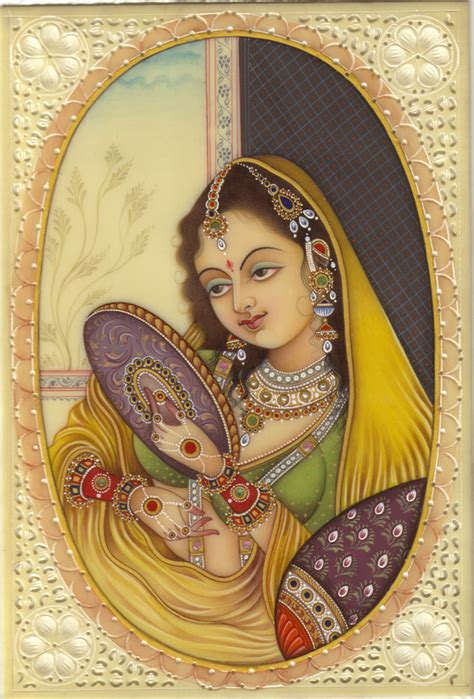 indian painting mogul portrait indian miniature mughal princess