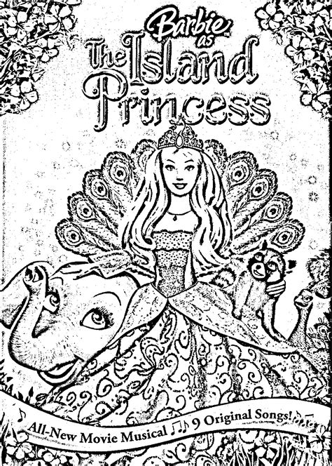 island princess barbie free coloring pages art coloring pages