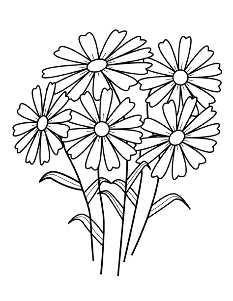 coloring page flower free printable flower coloring pages for kids best