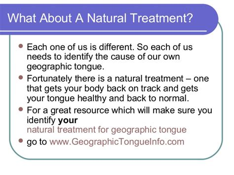 A Treatment by Treatment For Geographic Tongue