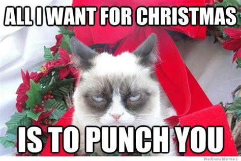 Grumpy Cat Christmas Memes - grumpy cat christmas meme all i want for christmas katje