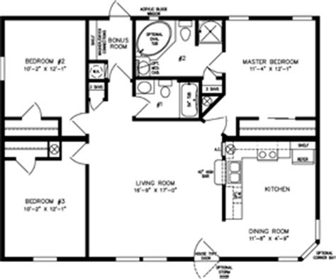 1226 sq ft manufactured home floor plan