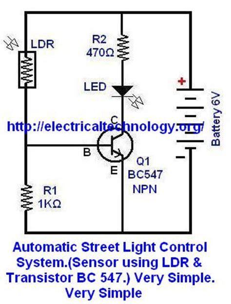light sensor circuit using ldr phototransistor light sensor using photo transistor electrical