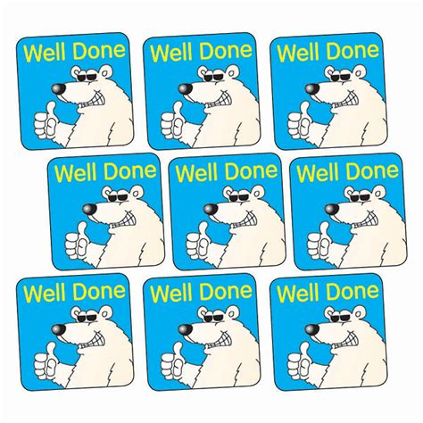 Well Done well done stickers polar 140 stickers 16mm