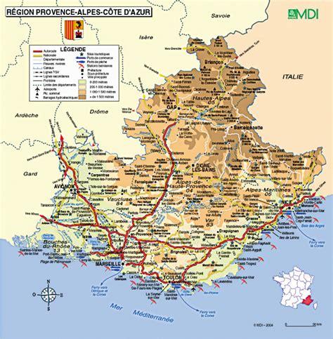 Provence Alpes Côte d Azur carte Arts et Voyages