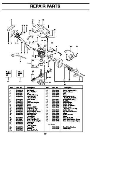 Craftsman 358 351162 Chainsaw Parts List 1996