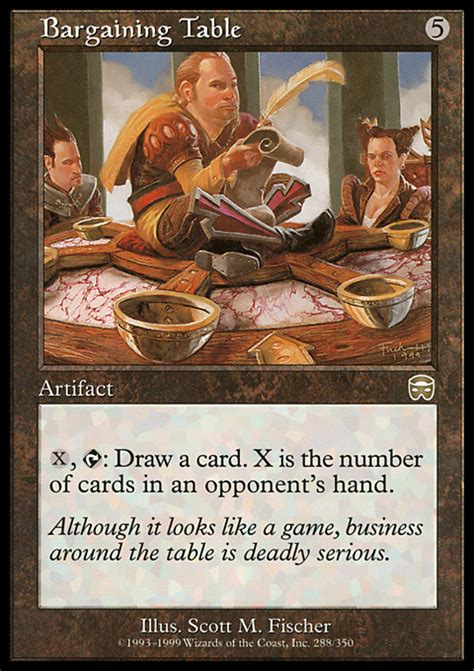 Mtg Table by Bargaining Table Magic The Gathering Card Info
