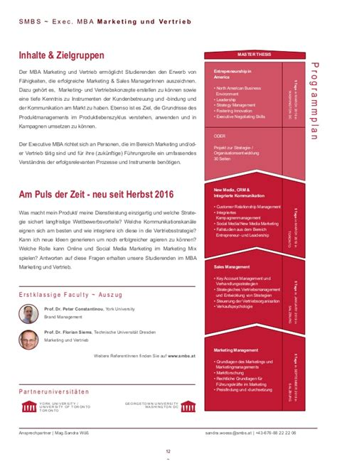 Of Marburg Mba by Smbs Gesamtfolder 2017 Mba