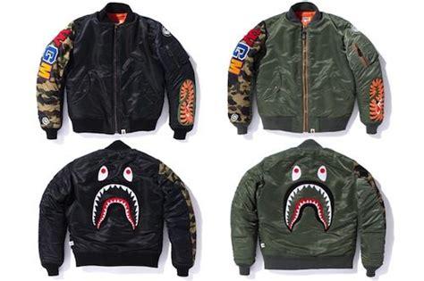 Jaket Bomber Bomber Bape A Bathing Ape Black Hitam 1 bape shark ma 1 jacket swag sharks