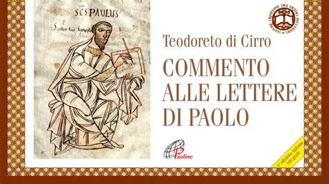 lettere di paolo commento alle lettere di paolo paoline