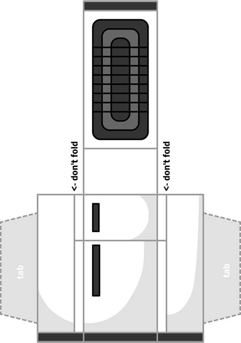 How To Make A Paper Refrigerator - dollhouse papercraft figure 10 s