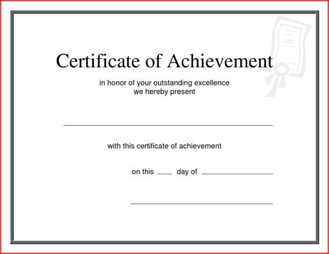 best of achievement award template mailing format