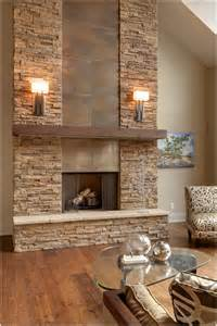rock tile fireplace toronto alta modern chalet beige wall chalet fireplace