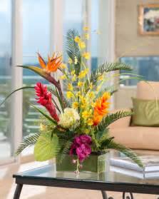 12 Cylinder Vases Buy Tropical Orchids Amp Ginger Artificial Flower