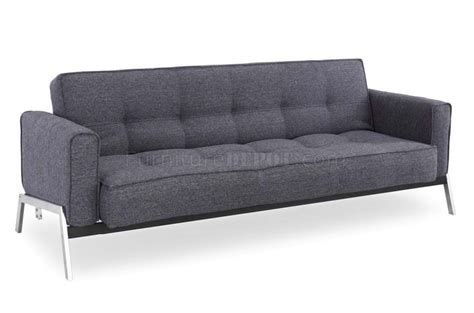 grey fabric couch charcoal grey fabric modern convertible sofa bed w chrome legs