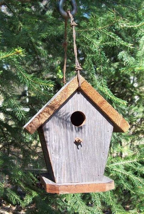 Handcrafted Birdhouses - rustic barbed wire birdhouse handcrafted of barnwood