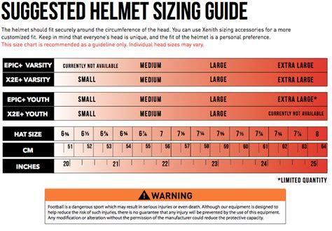 youth motocross helmet size chart xenith epic youth football helmet xl navy w choice of