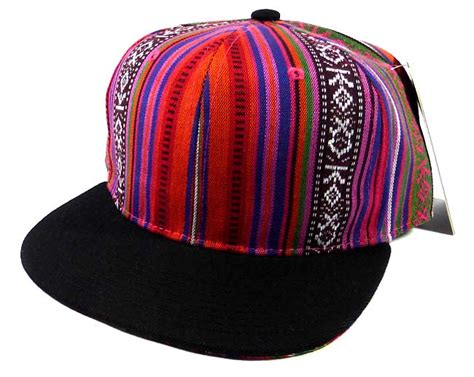 Exclusive Snapback Brim Pattern wholesale blank aztec snapback hats multicolored pattern purple black brim