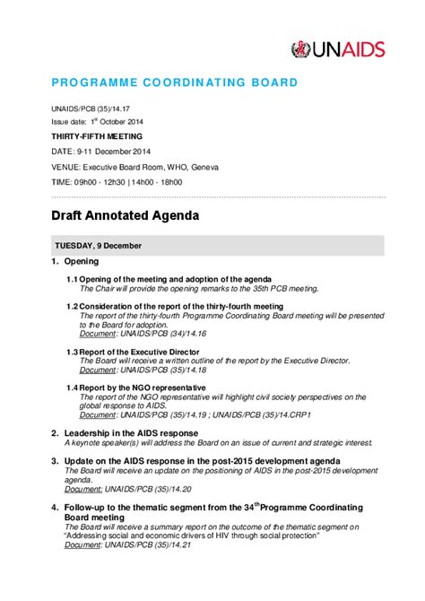 what does template annotated agenda template 3 best agenda templates