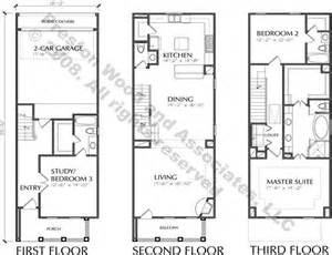 Townhouse Plans Townhouse Plan D5214 2224