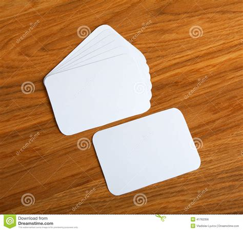 blank card rectangle curved corners template blank business cards with rounded corners on a wooden