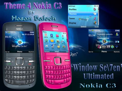 latest themes for nokia c3 00 window se7en ultimated nokia c3 theme hasan baloch