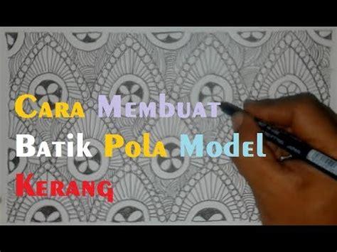 Kerang Batik contoh batik pola model kerang doodle zantange vignet