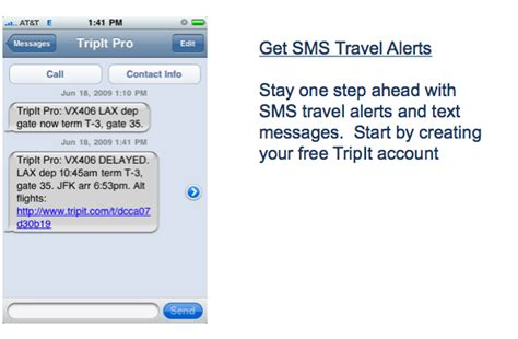 sms travel alerts airline text messages planning guide