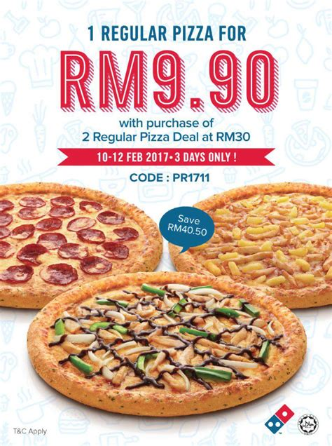 Domino S Pizza Giveaway Quickly - domino s pizza offer 1 regular pizza for rm9 90 only