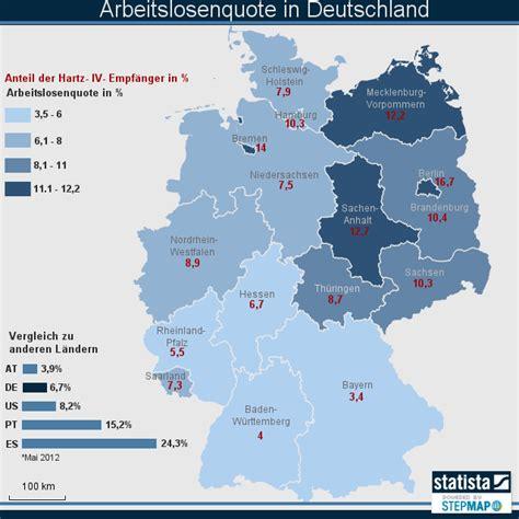 Deutsches Büro Grüne Karte Formular by Arbeitslosenquote In Deutschland Statista Landkarte