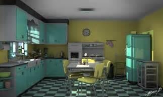 retro ish kitchen