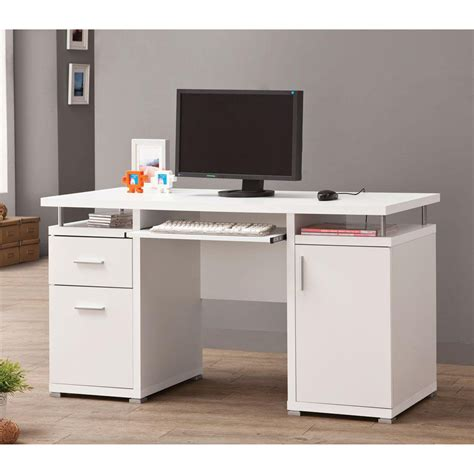 Sears Computer Desk Venetian Worldwide Dubois Computer Desk In White Finish