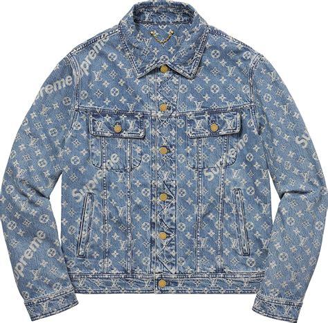 Louis Vuitton Kd supreme louis vuitton supreme jacquard denim trucker jacket