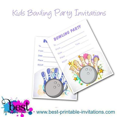 printable birthday invitations bowling free printable bowling invitations