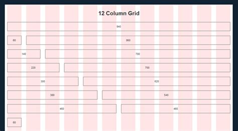 website design layout using grid systems using a framework to ensure pixel perfect web design