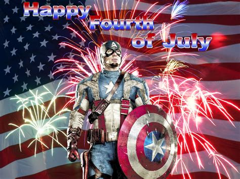 captain america says quot happy fourth of july quot dhtg