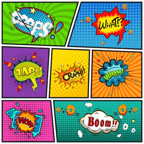 comic book template powerpoint comic speech bubbles background by yayasya graphicriver