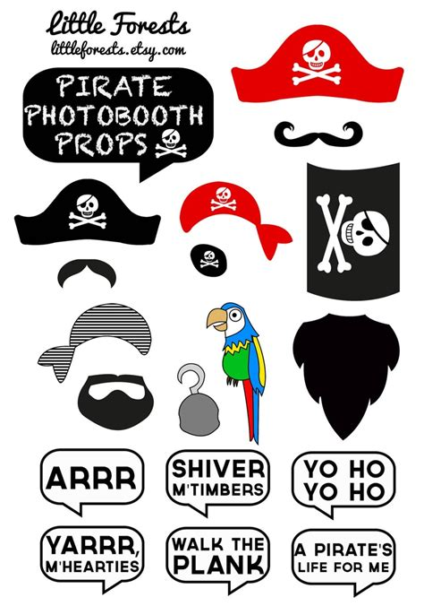 free printable photo booth props pirate speech bubble printable cliparts co