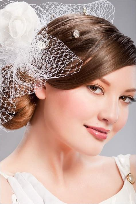 pinkbizarre bridal hairstyles with veil