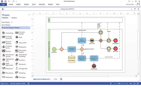 visio business process how to create a ms visio business process diagram using
