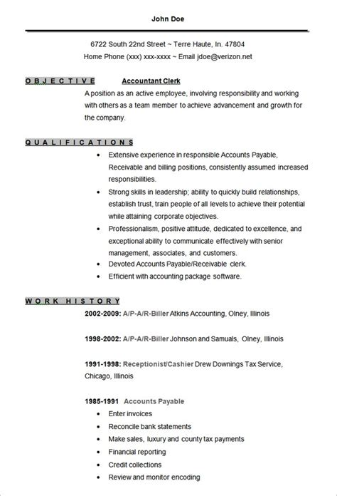 Accounting Resume Template by 10 Accounting Resume Templates Free Word Pdf Sles