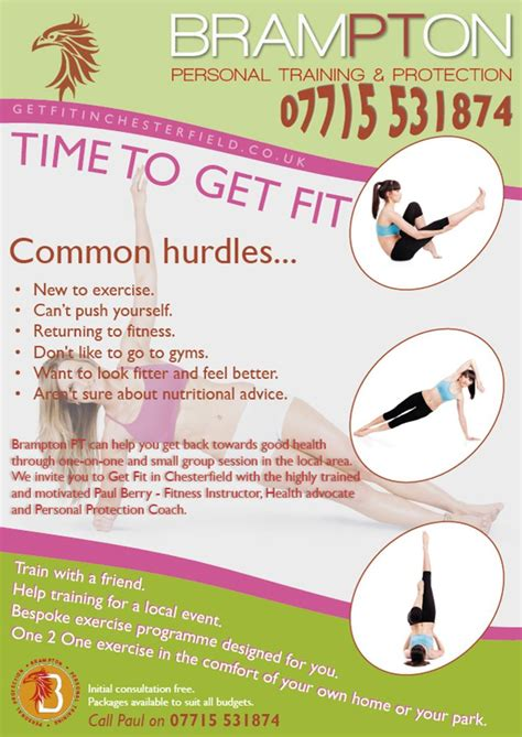 leaflet design chesterfield nice annual leaflet for fitness trainer based in