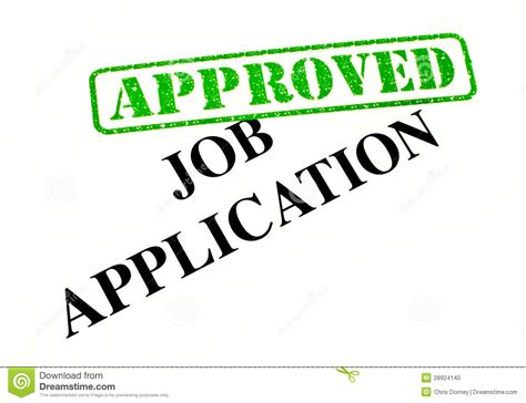 job application approved stock photo image 28924140