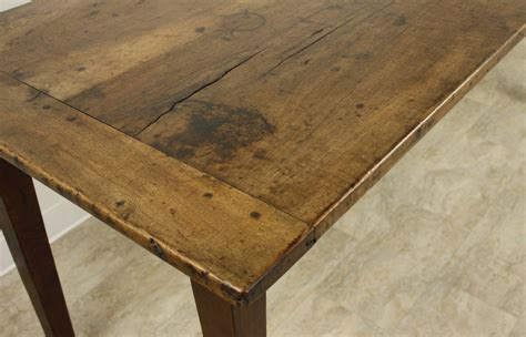 antique walnut farmhouse table two plank top at