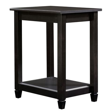 sauder edge water side table sauder edge water side table in estate black 415269