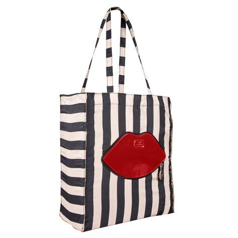Lulu Guinness Striped Maddy Tote by Stripe Foldaway Shopper Shopper Bags Handbags